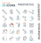 set of vector line icons with... | Shutterstock .eps vector #1135490747