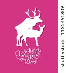 happy valentines day card with... | Shutterstock .eps vector #1135491809