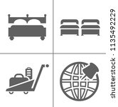 hotel icons   traveling ... | Shutterstock .eps vector #1135492229