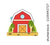 barn icon vector isolated on... | Shutterstock .eps vector #1135492727