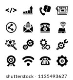 vector communication icons  ... | Shutterstock .eps vector #1135493627