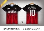 soccer jersey and t shirt sport ... | Shutterstock .eps vector #1135496144