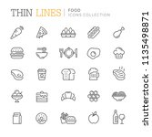 collection of food related icons | Shutterstock .eps vector #1135498871