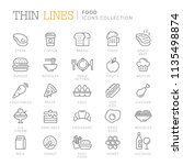 collection of food related icons | Shutterstock .eps vector #1135498874