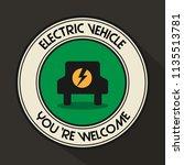 electric vehicle emblem... | Shutterstock .eps vector #1135513781