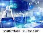 forex trading  financial market ...   Shutterstock . vector #1135515104
