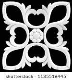 3d illustration stucco... | Shutterstock . vector #1135516445