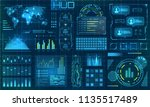 futuristic hud design elements. ...   Shutterstock .eps vector #1135517489