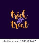 trick or treat. orange... | Shutterstock .eps vector #1135521677
