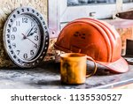 lunch time at the production... | Shutterstock . vector #1135530527