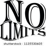 no limits arts drawing design... | Shutterstock .eps vector #1135530605