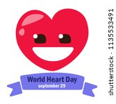 world heart day. vector... | Shutterstock .eps vector #1135533491