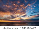 dramatic sunrise clouds. very... | Shutterstock . vector #1135533629