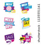 set of big sale shopping poster | Shutterstock .eps vector #1135551161