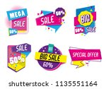 set of big sale shopping poster | Shutterstock .eps vector #1135551164