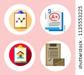 simple 4 icon set of note... | Shutterstock .eps vector #1135553225