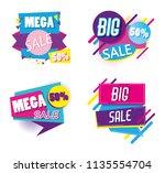 set of mega sale emblems... | Shutterstock .eps vector #1135554704