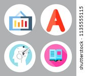 simple 4 icon set of book... | Shutterstock .eps vector #1135555115