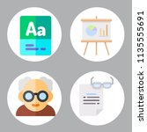 simple 4 icon set of book... | Shutterstock .eps vector #1135555691