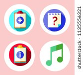 simple 4 icon set of note... | Shutterstock .eps vector #1135556321