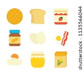 breakfast food flat icon | Shutterstock .eps vector #1135566044