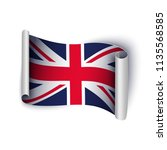 united kingdom flag  great... | Shutterstock .eps vector #1135568585
