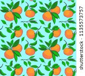 floral fruit pattern. pattern...   Shutterstock .eps vector #1135573757