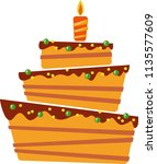 cake on a white background.... | Shutterstock .eps vector #1135577609