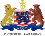coat of arms of bruges is the... | Shutterstock .eps vector #1135580609