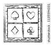 grunge framework cards geme...   Shutterstock .eps vector #1135594331