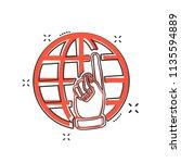 vector cartoon go to web icon... | Shutterstock .eps vector #1135594889