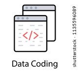 a html source code on website... | Shutterstock .eps vector #1135596089