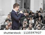 successful businessman holds...   Shutterstock . vector #1135597937