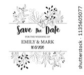 floral card design | Shutterstock .eps vector #1135605077