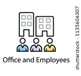 a corporate or group of... | Shutterstock .eps vector #1135606307