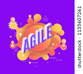 agile trendy background...   Shutterstock .eps vector #1135607261