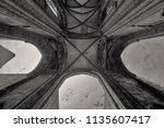 ruins of the abbey in the... | Shutterstock . vector #1135607417