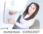 view from the top.an employee...   Shutterstock . vector #1135612427