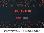 back to school background with...   Shutterstock .eps vector #1135615364