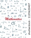 mathematics school subject with ...   Shutterstock .eps vector #1135620407
