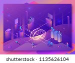 artificial intelligence concept ... | Shutterstock .eps vector #1135626104