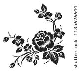 rose motif design sketch... | Shutterstock .eps vector #1135626644