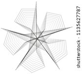 symbols of sacred geometry ... | Shutterstock .eps vector #1135627787