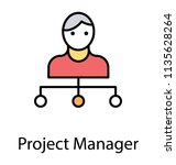 a logistic manager mainly... | Shutterstock .eps vector #1135628264