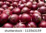 red onions in plenty | Shutterstock . vector #113563159