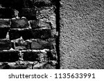 abstract background. monochrome ... | Shutterstock . vector #1135633991