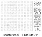 exclusive 2420 thin line icons... | Shutterstock .eps vector #1135635044