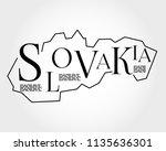 slovakia  outline typographic... | Shutterstock .eps vector #1135636301