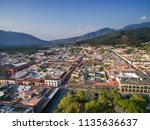 an aerial view of the historic... | Shutterstock . vector #1135636637
