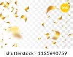 random falling golden glitter...   Shutterstock .eps vector #1135640759